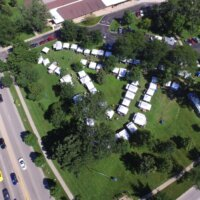 Arial view of Summer Art Fair in Glenview, 2017