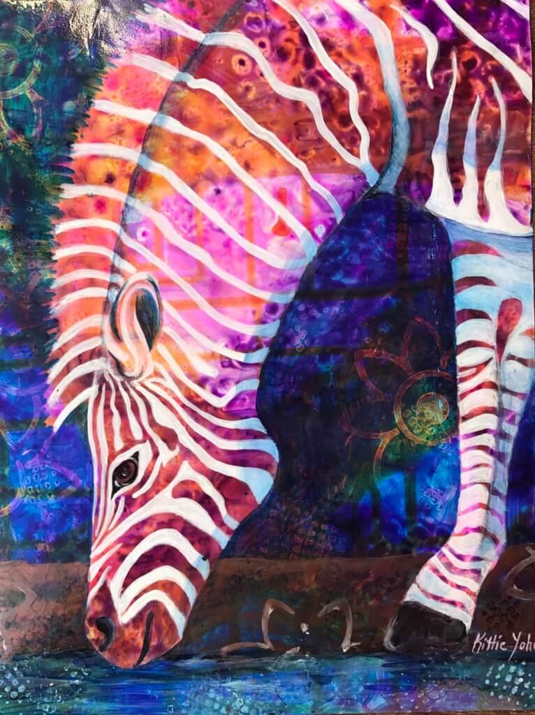 Kittie Yohe Psychadelic Zebra
