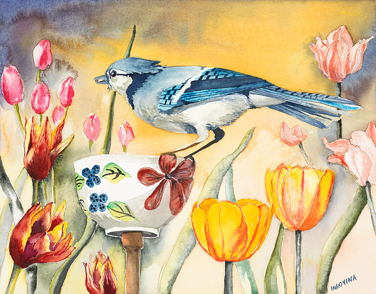 Bluejay Garden by Lori Indovina-Valus