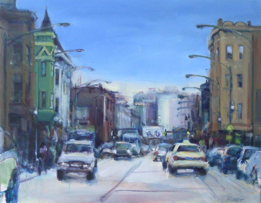 Blur Clark Street by Audrey McCartney Barrett