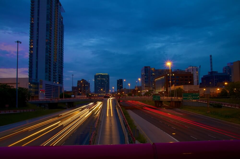 Expressway Light Trails by Brian Kabat
