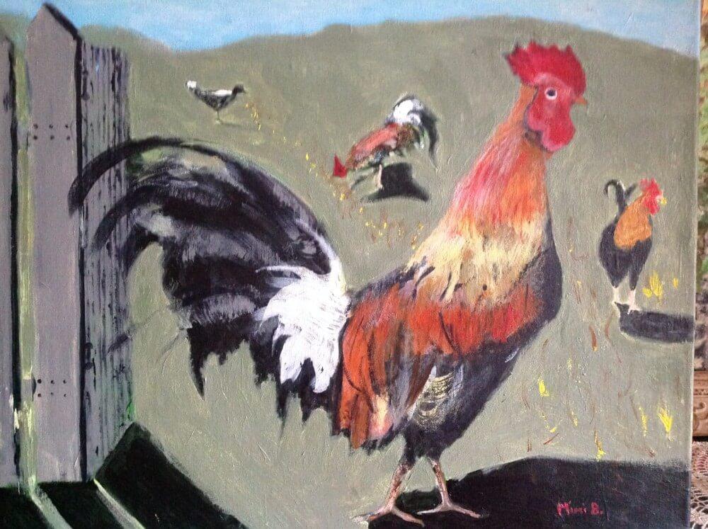 Kauai Rooster by Mimi Branstrom