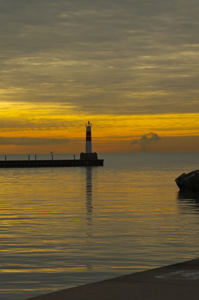 Lighthouse at Montrose Harbor by Brian Kabat
