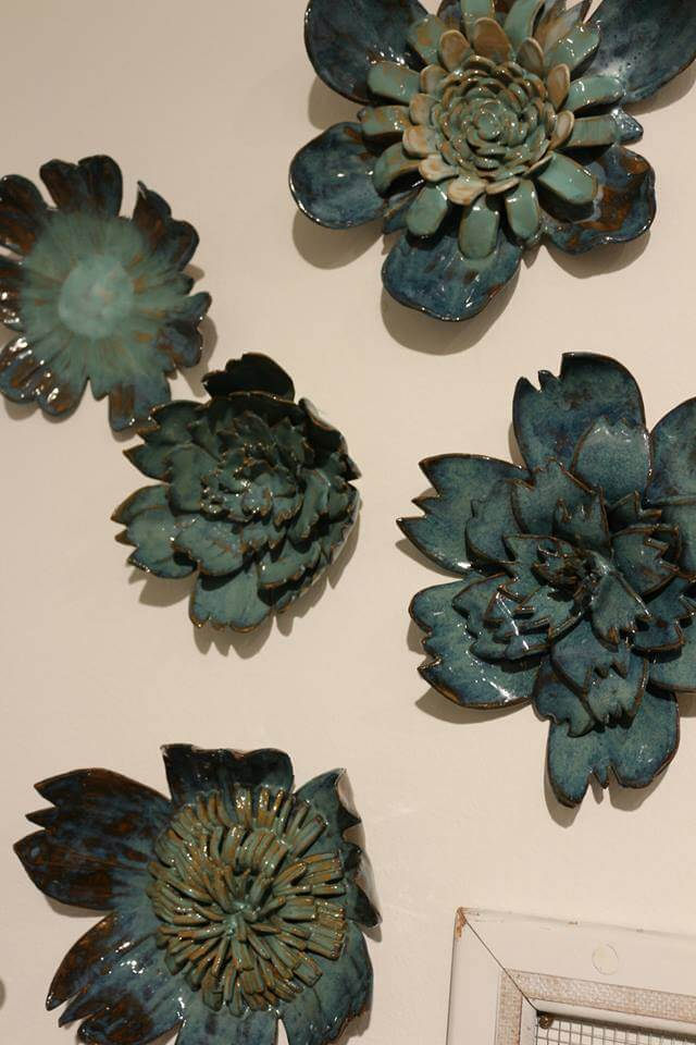 Melissa Monroe clay flowers