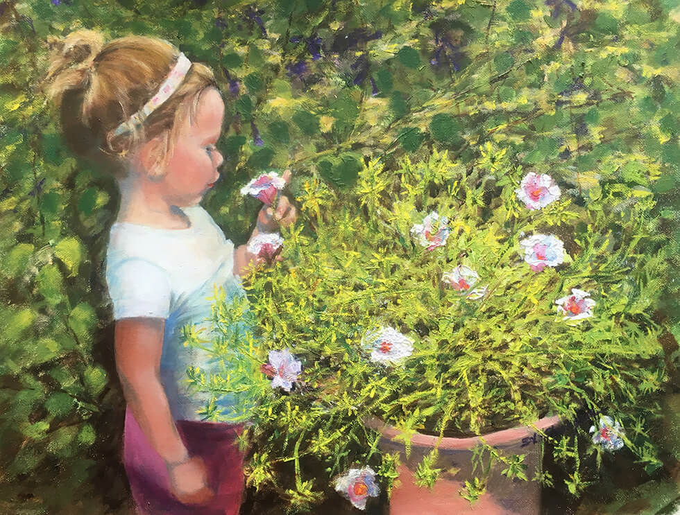 Vivian sized for web flowers painting