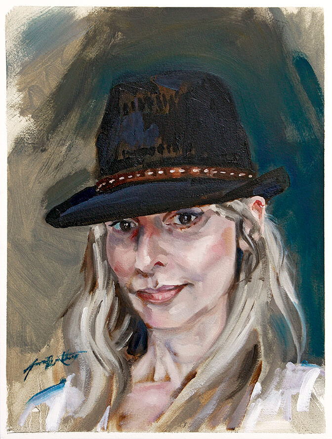 Portrait of Lyndsey MacGregor with Hat